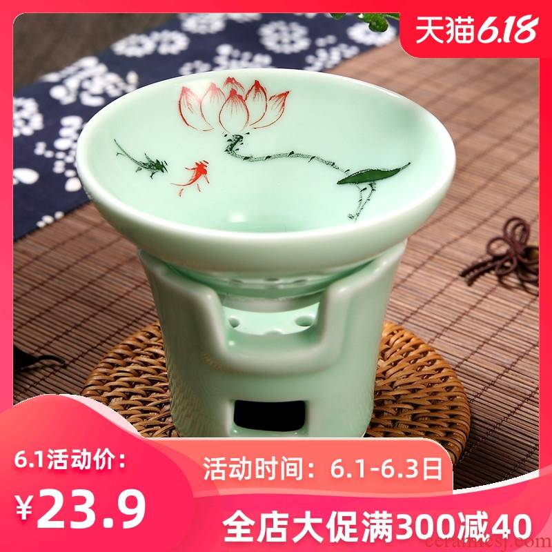 Tea accessories ceramic celadon between the screen mesh Tea Tea Tea set Tea Tea Tea filter is good
