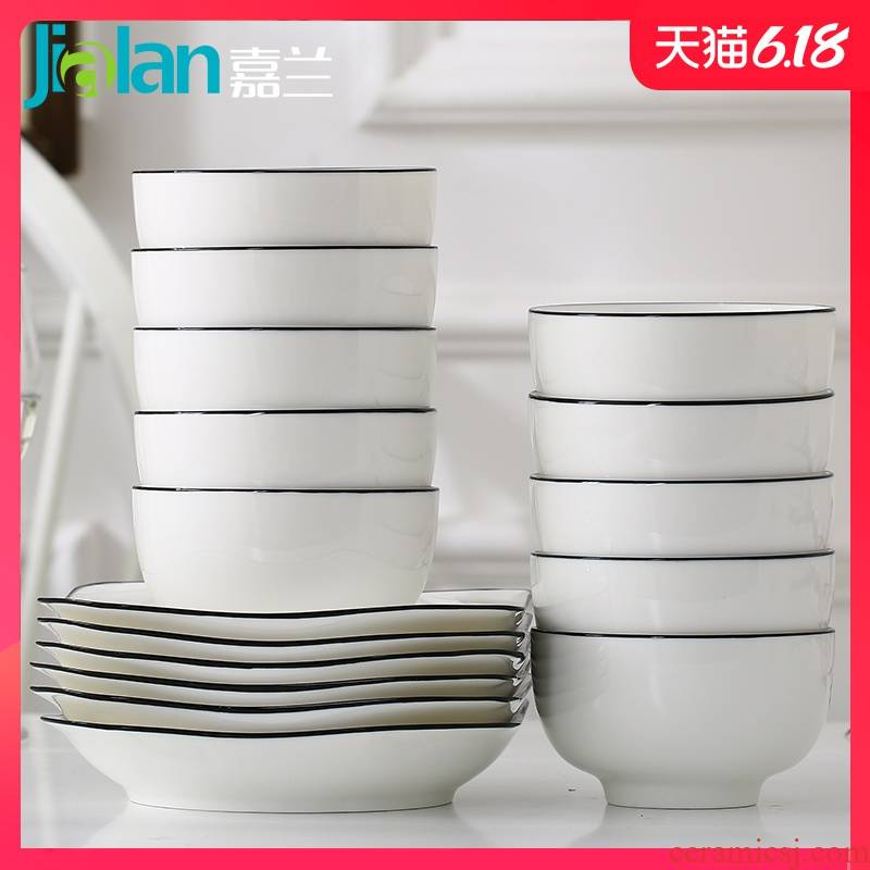 Garland ins Nordic minimalist home dishes suit one food tableware composite ceramic plate suit