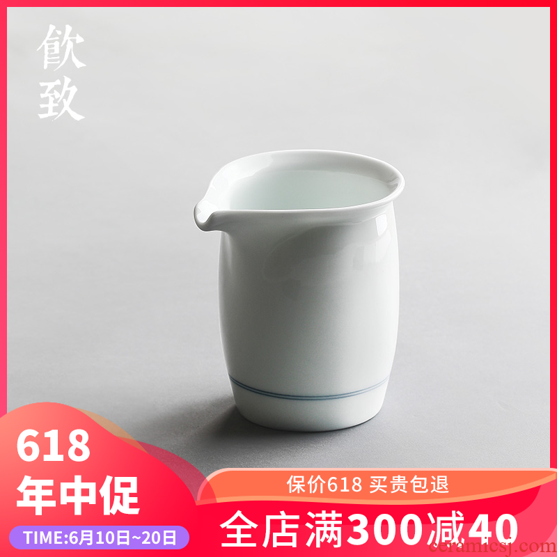 Ultimately responds to the xuan wen hand - made tea sea of blue and white porcelain tea set and a cup of large - sized ceramic fair keller kongfu tea is archaize