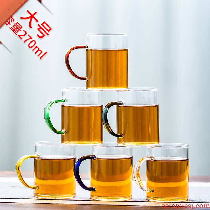 More domestic high temperature resistant glass cup glass transparent with the cup of kung fu tea set personal cup sample tea cup bowl