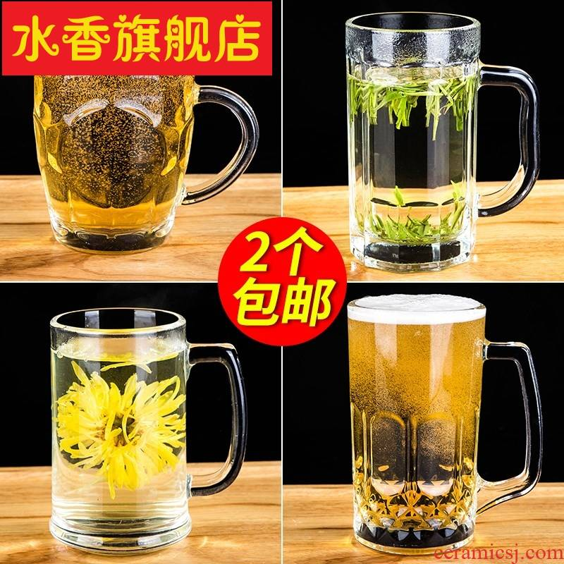 Take the domestic large beer on draft beer cup hot tea glass cup upset the cup to ultimately responds water cup