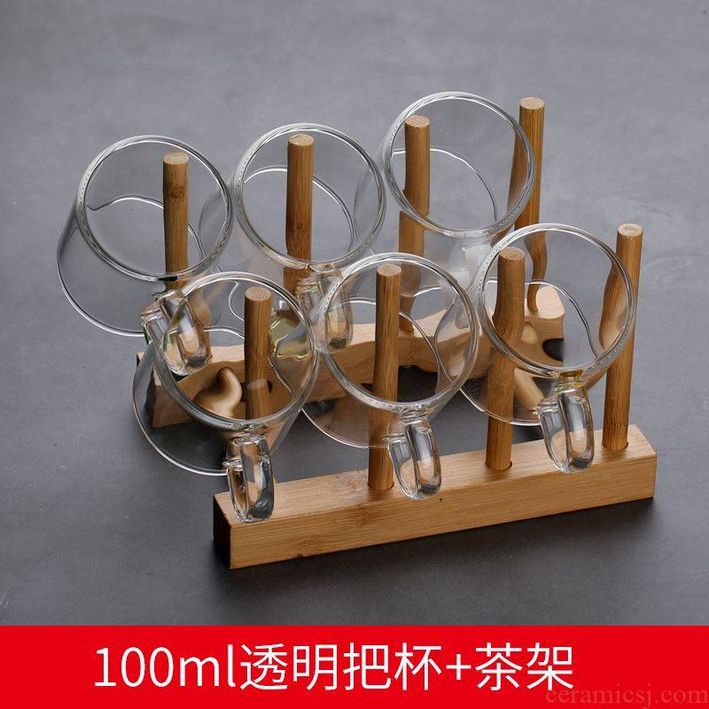 The Desktop thickening shelf ltd. glass glass shelf hanging bar table hang act the role of tea table mounted