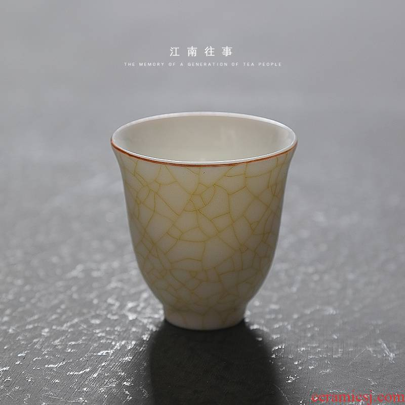 Jiangnan ceramic past your up suet jade tea cups fragrance - smelling cup open piece of kung fu tea cup single small masters cup