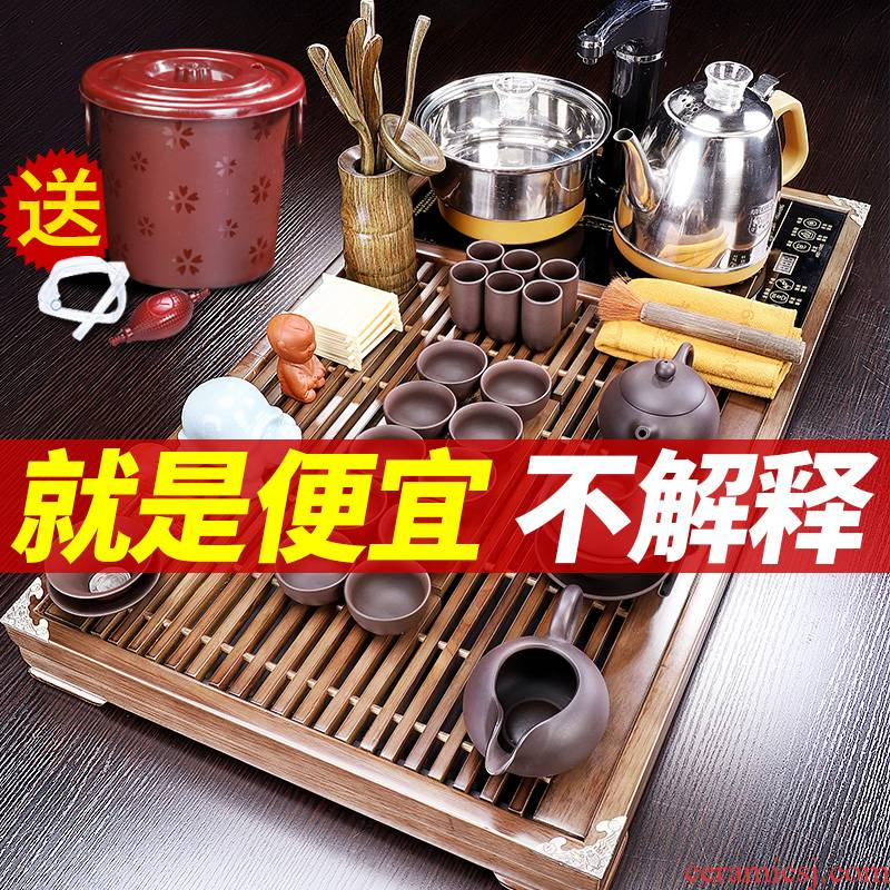 Tang Feng tea set home from the office one tea tray was a complete set of automatic make tea tea tea