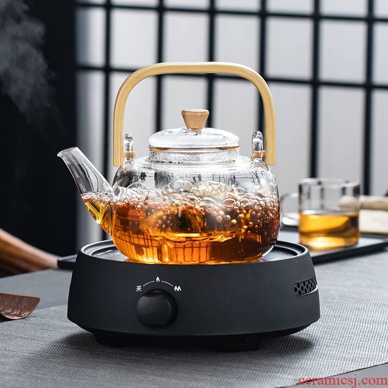 High temperature resistant glass girder boiled tea kettle boil water special electric TaoLu boiled tea, white tea health pot boil tea stove