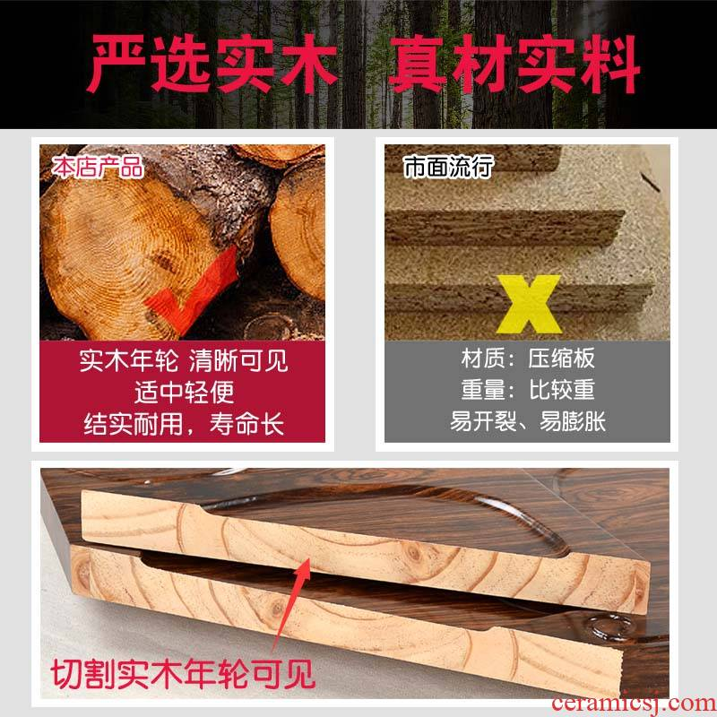 T solid wood tea tray was home small tea table I and contracted kung fu tea tea tray waterlogging under caused by excessive rainfall drainage type tea table sitting room