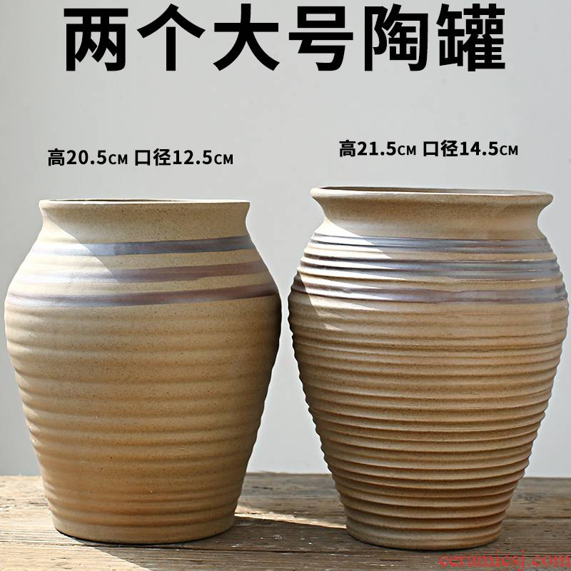 The new meat mage old running The flowerpot large clearance sale soil jingdezhen ceramic flower pot by hand