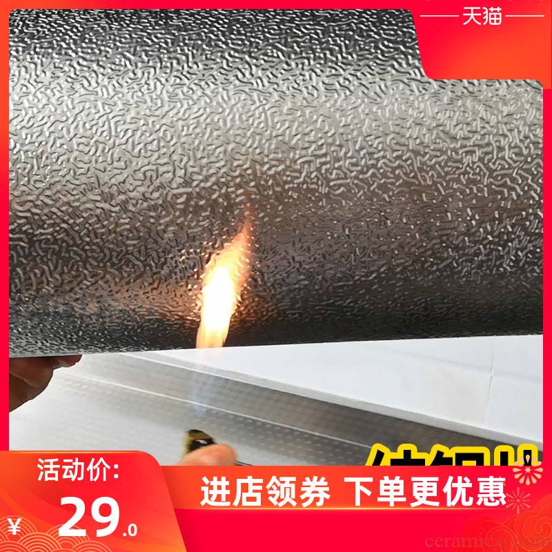 Kitchen fire becomes waterproof and oil from sticky high - temperature hold stove flame retardant with thick wall posted Kitchen'm gas cabinets ceramic tile to stick