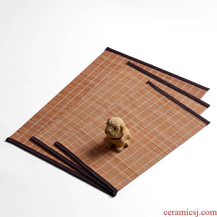 Bamboo qualitative tea table make tea tea Bamboo mat Bamboo tea kunfu tea accessories insulating mat Bamboo qualitative curtain tea cup mat