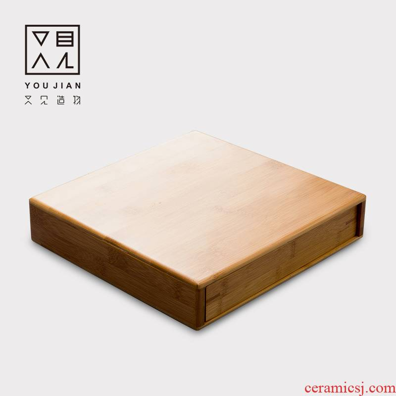 And creation of single boxes of pu - erh tea tray separate tea boxes Japanese bamboo kung fu tea accessories tea taking with zero