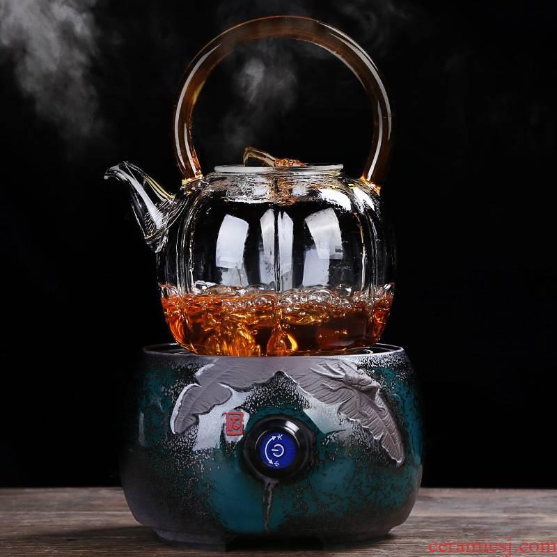 Creative ceramic electric TaoLu boiled tea, intelligent home.mute iron pot of boiling water tea stove silver pot of tea accessories
