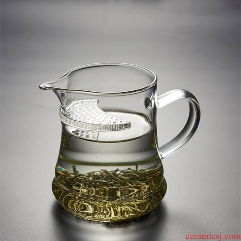 Reasonable glass cup upset heat - resisting filtering points tea ware tea cup crescent cup of black tea, green tea tea cup