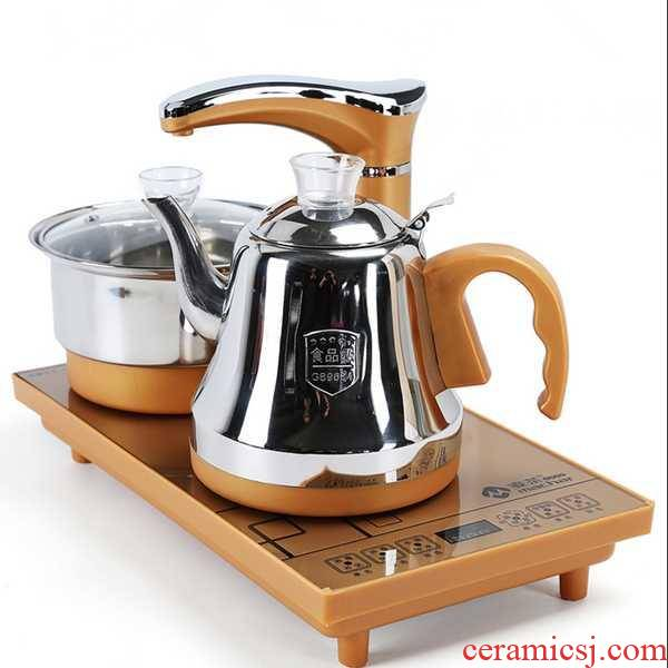 Automatic water kettle electric touch embedded water glass tea sets tea tray induction cooker