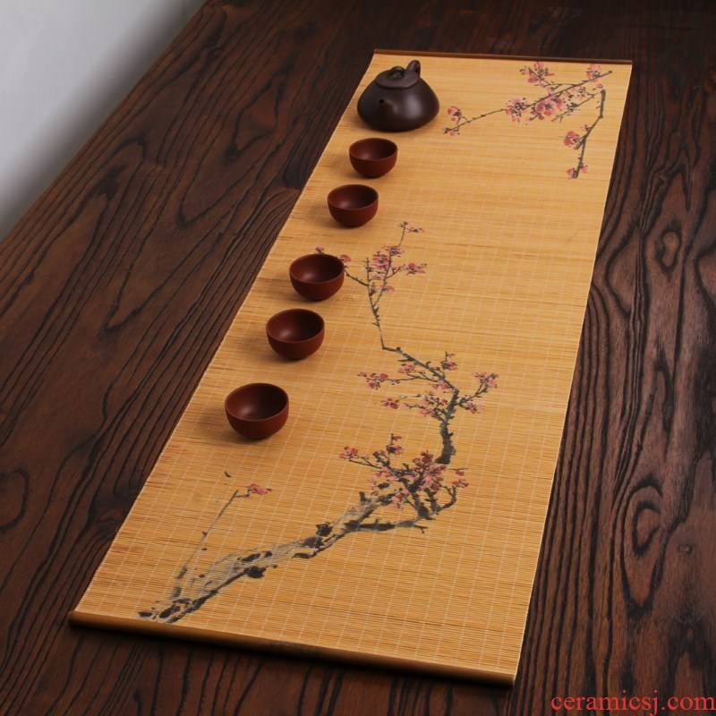 Kombucha tea mat the cane top service up Taiwan bamboo mat bamboo tea tea tables, small bamboo tea tray mat mat filter fiber zen tea