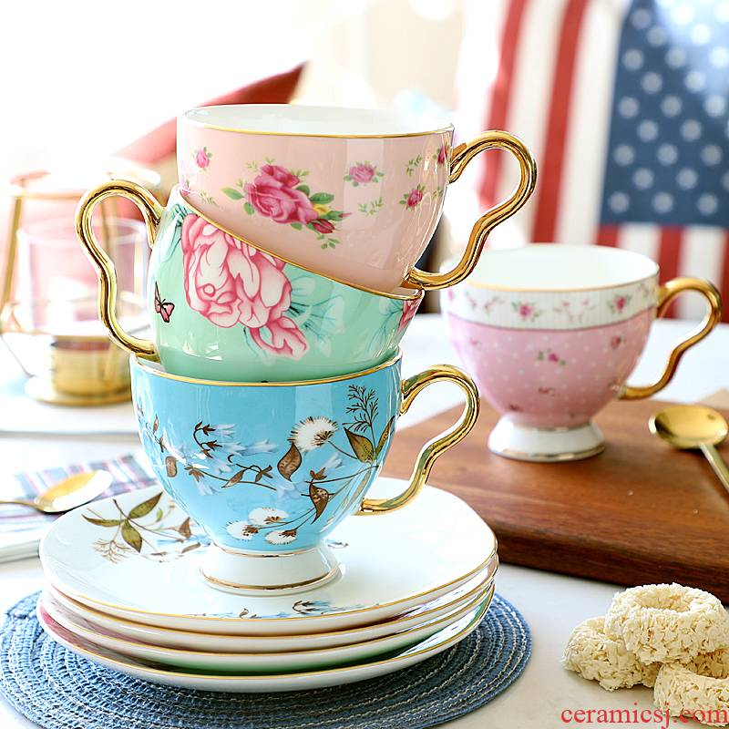 Coffee cup suit small European - style key-2 luxury ipads porcelain European style afternoon tea tea set ceramic English household delicate cups
