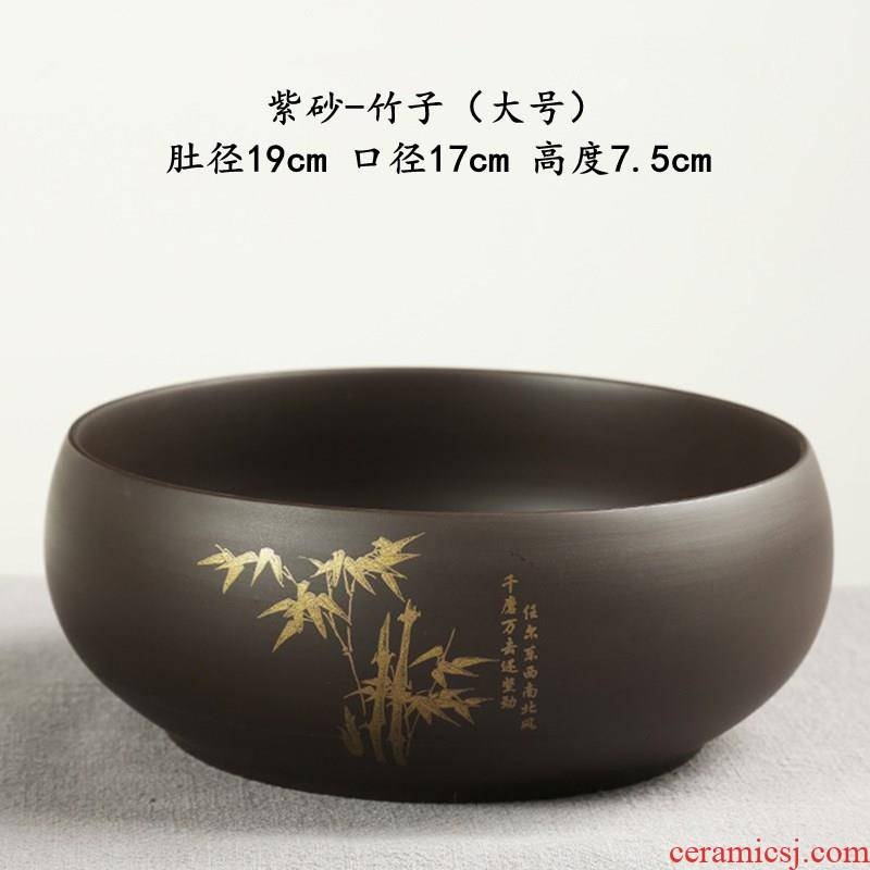 Xian XiCha large water wash to the Japanese zen kung fu tea tea accessories for wash cup water in the basin XiCha tureen water jar