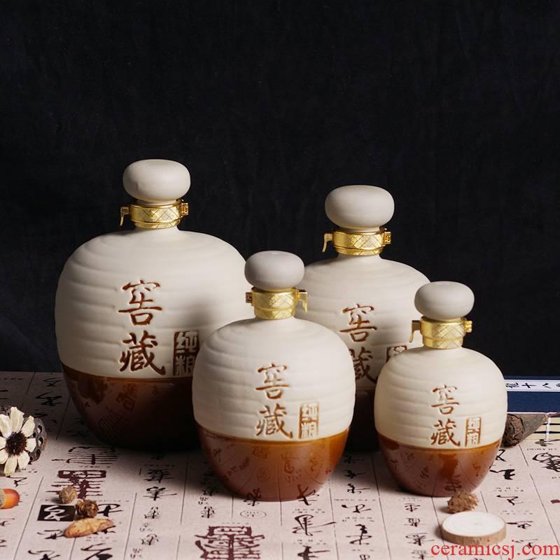 The Empty bottle 1 catty 2 jins of ceramic household liquor three catties 5 jins of high - grade Empty bottle wine bottle wine jars seal