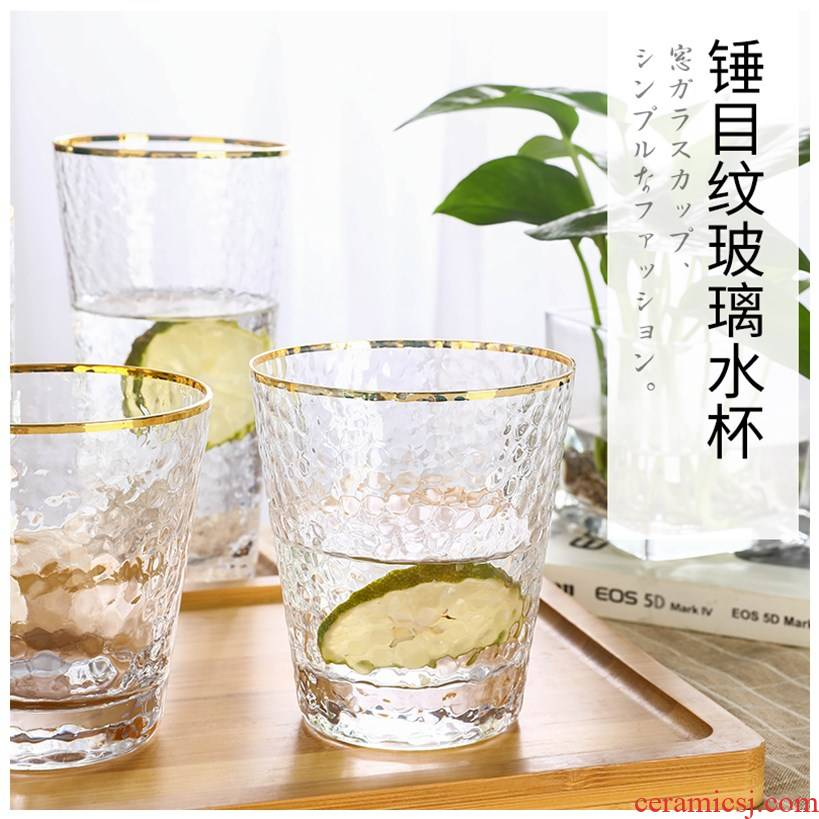 Pro glass Japanese up phnom penh hammer eye grain and exquisite originality ultimately responds cup hot tea cups of milk