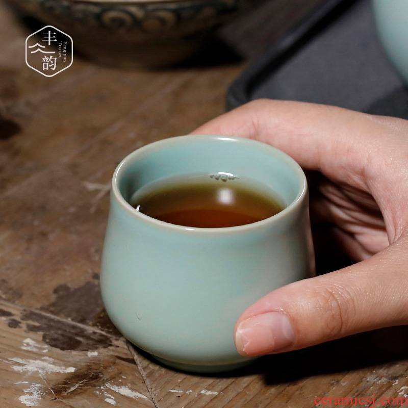 Your up cracked cup master cup large ceramic tea cup pure manual sample tea cup can be Your porcelain personal cup single CPU