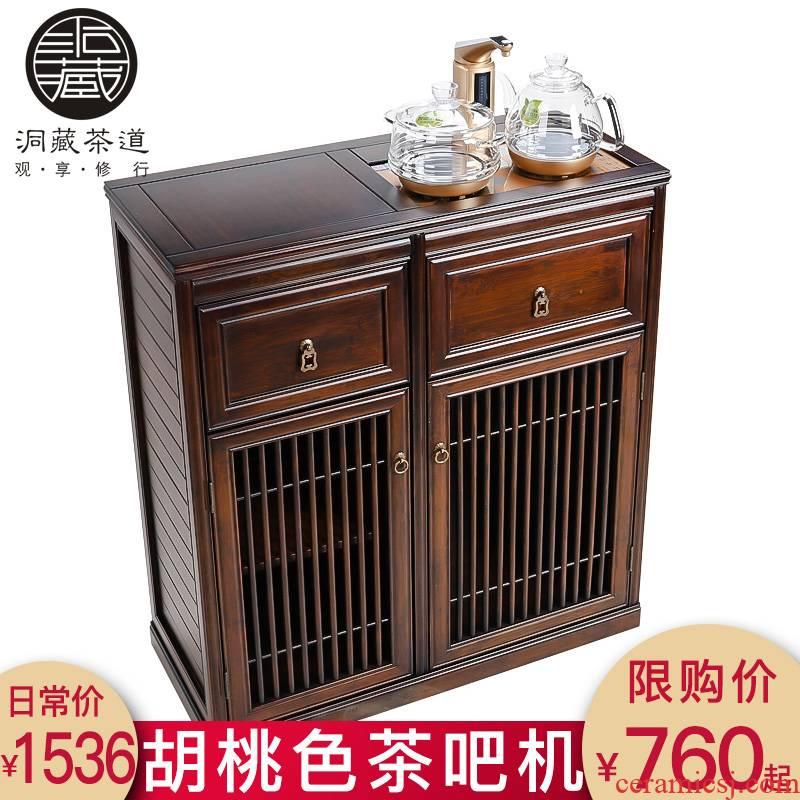 In building tank home sitting room tea tea machine frame shelf tea kettle body burn tea cabinet