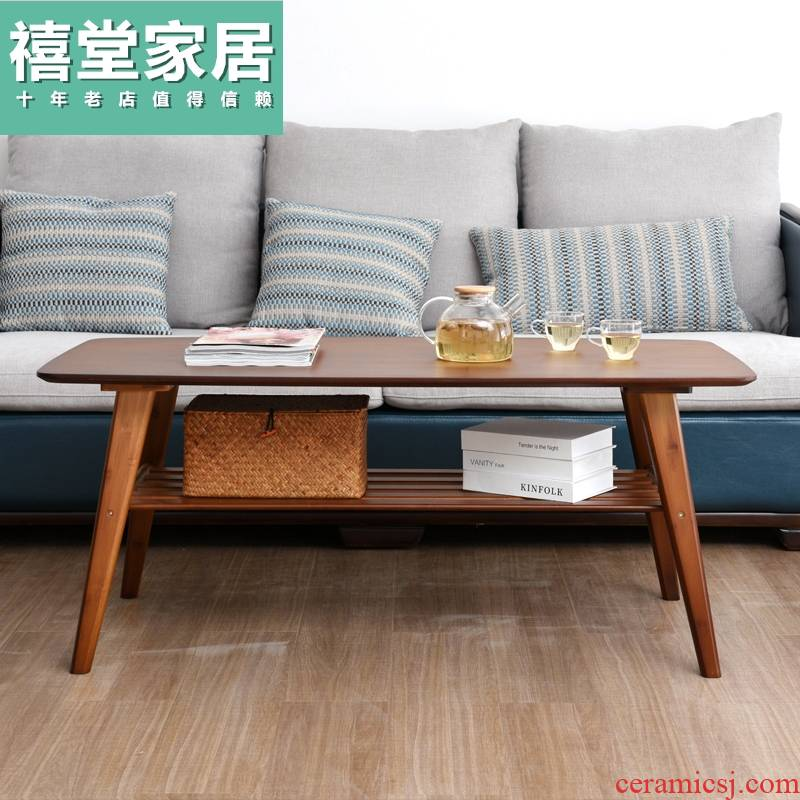 Contracted sitting room tea table, small family the modern Chinese style tea real wood, small tea table is economical