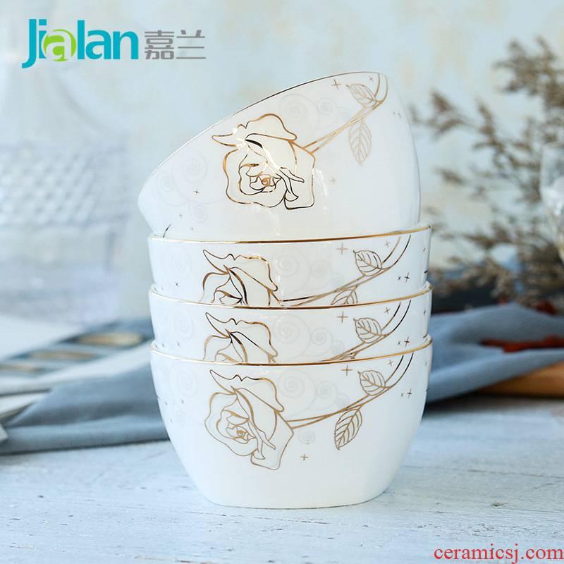 Garland ipads bowls from 4.5 inches square rice bowl dessert salad bowl of Korean creative fashion custom ceramic bowl