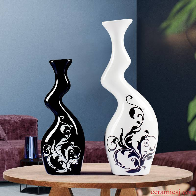 Creative move home decoration ceramic arts and crafts furnishing articles sitting room ark, abnormity couples flower vase decoration