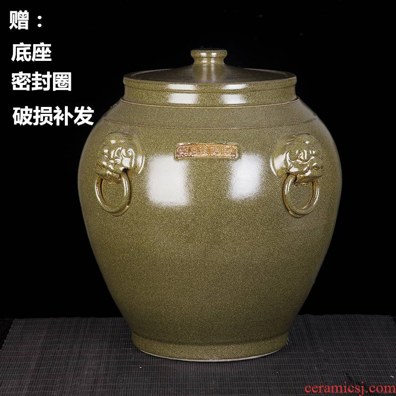 Jingdezhen ceramic barrel ricer box store meter box 20 kg 50 kg the packed with cover seal storage tank with moistureproof insect - resistant