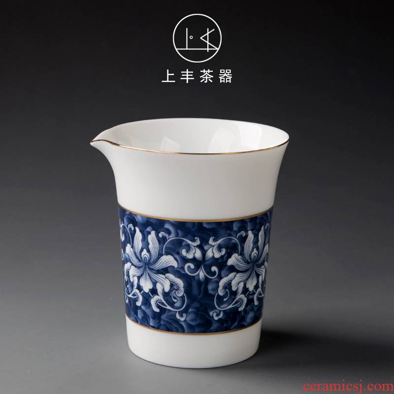 On the an abundant tea white porcelain ceramic fair keller kung fu tea set points of blue and white porcelain tea is tea and tea cup sea large cup