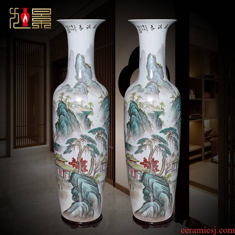 Jingdezhen ceramic new Chinese style is I and contracted sitting room of large vase household flower decoration gifts furnishing articles