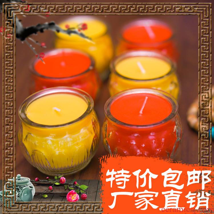 SuYouDeng worship Buddha light home 24 hours the lotus lamp Buddha GongDeng small smokeless candles, based boiled tea bag in the mail