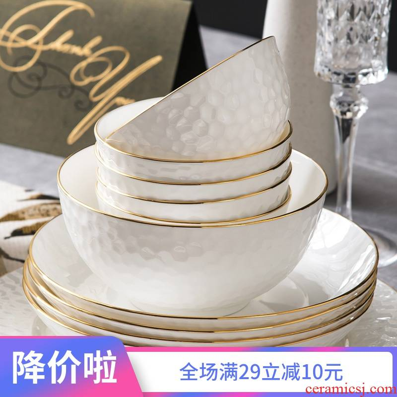 Ceramic dish dish dish beefsteak pan European up phnom penh ipads porcelain tableware creative home dishes set combination