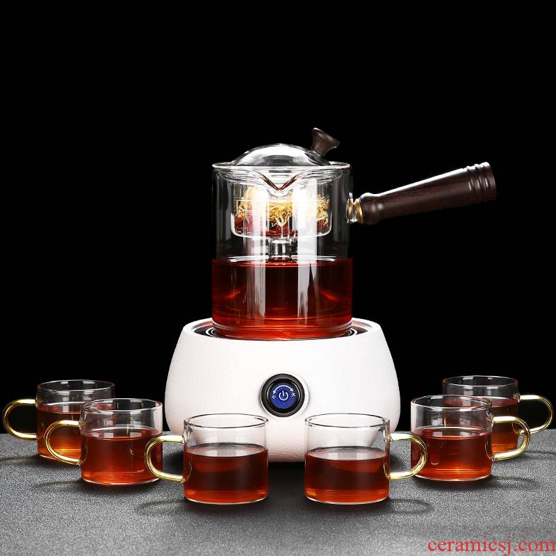 Hong bo gourmet cook Japanese tea set a complete set of kung fu tea set contracted household the coarse pottery TaoLu glass cooking pot