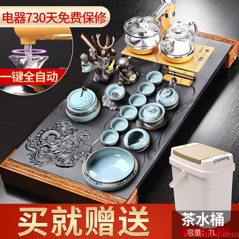 It still fang Chinese style restoring ancient ways tea set home sharply stone tea tray rosewood wood tea table four unity of kung fu