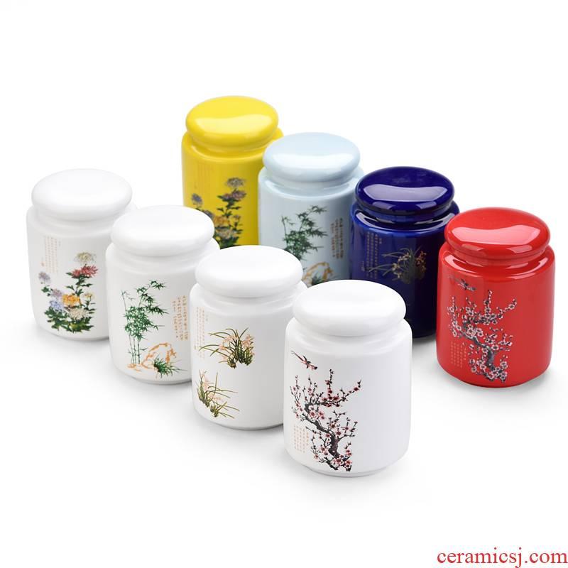 Up with ceramic tea pot gift boxes size household seal storage tank black tea tea warehouse Chinese tea
