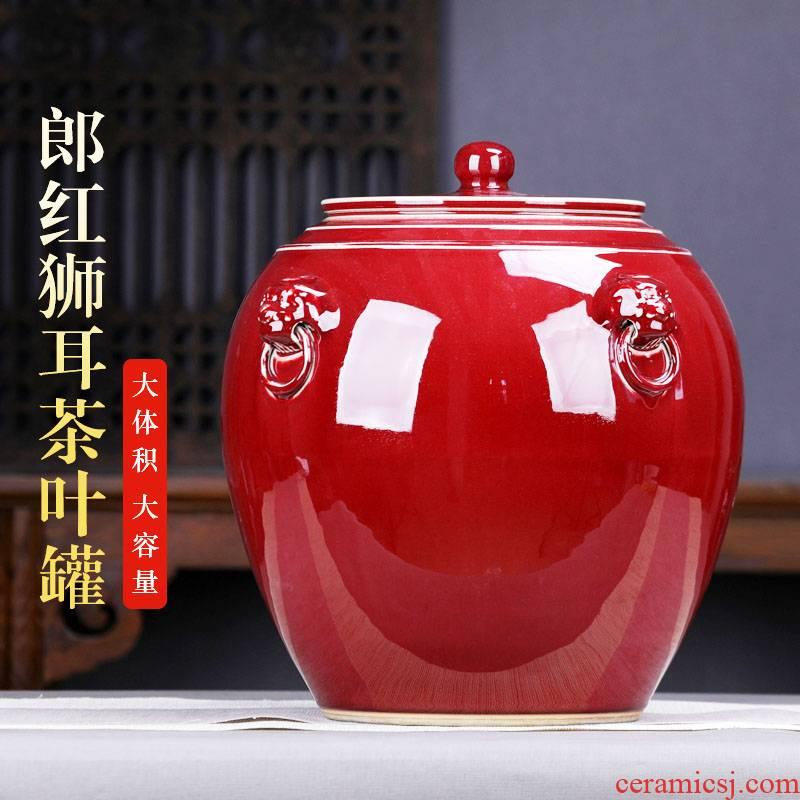 Ruby red in ceramic tea pot large collection of pu 'er tea cake big pot receive large tea urn and POTS