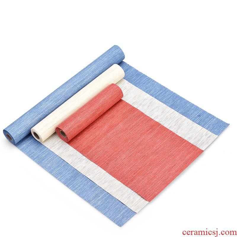 Tea Tea tray mat mat waterproof table flag Chinese linen tablecloth Tea zen Tea towel cloth art Tea cloth flag Tea table cloth