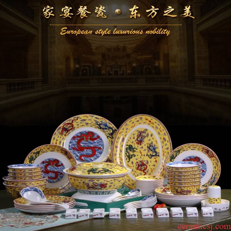 The dishes suit household jingdezhen ceramics tableware 58 Chinese chopsticks ipads porcelain head to eat bread and butter plate combination