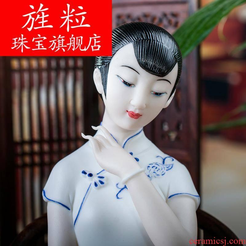 Bm dehua porcelain its art creative ceramic home furnishing articles dream jiangnan D04-01