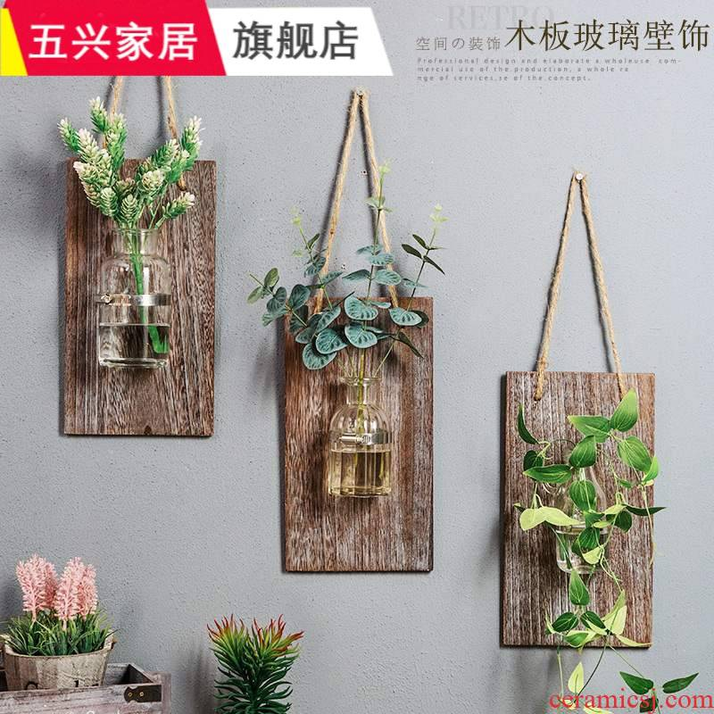 Industrial wind restoring ancient ways is soft, green metope adornment wall hanging pot milk tea shop wall act the role of creative hotel accessories