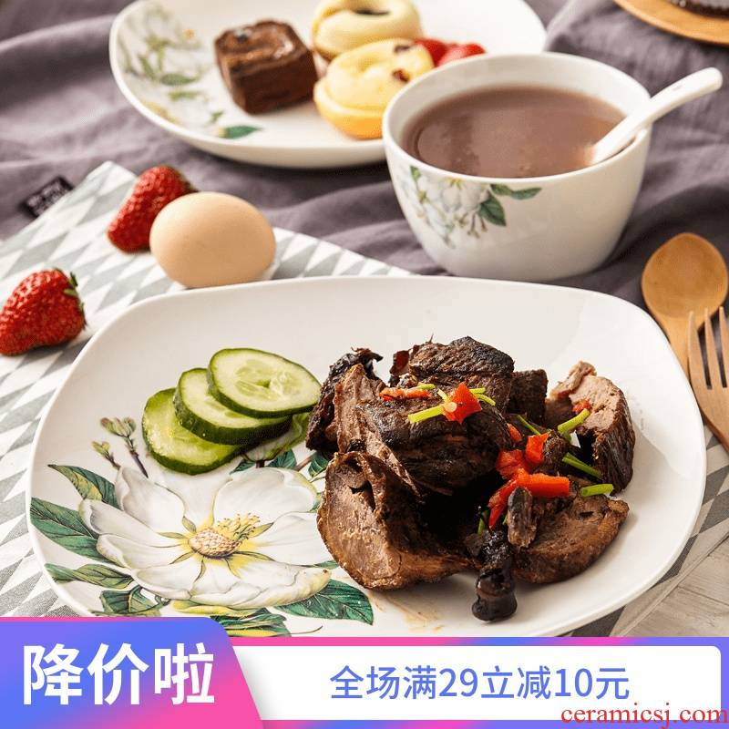 Ipads China tableware set free combination collocation kapok DIY rainbow such as bowl spoon/use/microwave/dishes
