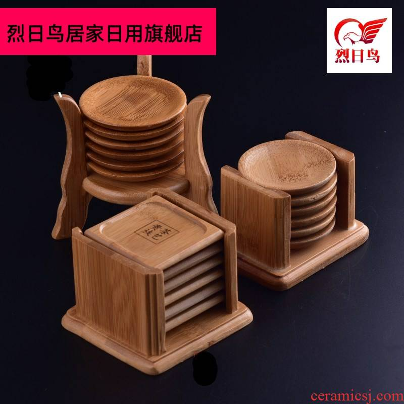 Coffee tea tea accessories round wooden MATS kunfu tea wooden cup mat cup base collet saucer sitting room