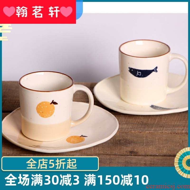 Couples the parent - child water cups with cover creative children milk cup fresh beautiful gift harajuku move fruit tea