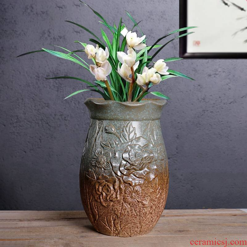 Fleshy flowerpot queen orchid basin to the balcony vegetable potted flower king clearance sale coarse some ceramic porcelain flowerpot