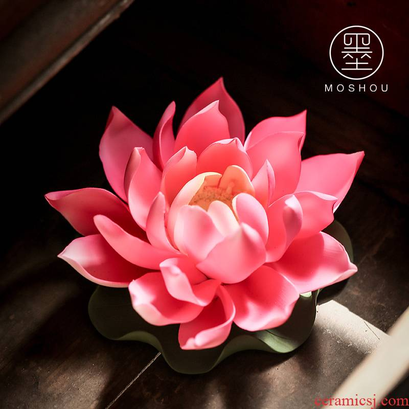 Pet furnishing articles by the lotus fragrance in ceramic tea fragrant incense splints joss stick incense buner pen tea tea art furnishing articles