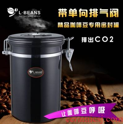 Implicit artisan beans sealed as cans with the exhaust steam stainless steel food as cans of tea pot tank to breathe