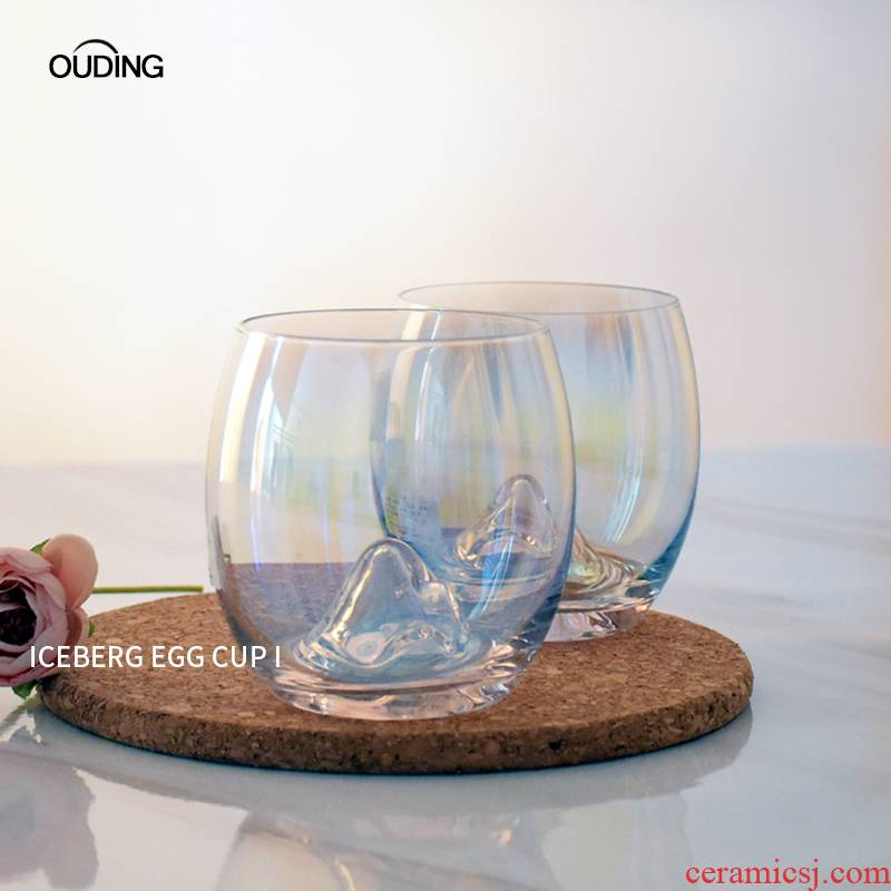 The Nordic idea manual INS dazzle see colour iceberg cup of red wine glasses of whiskey glass crystal glass cup