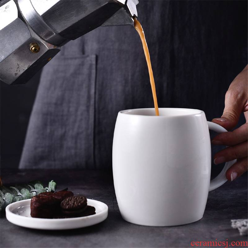 Mark cup stout gulp contracted costa with cover large capacity creative ceramic cup cup household custom