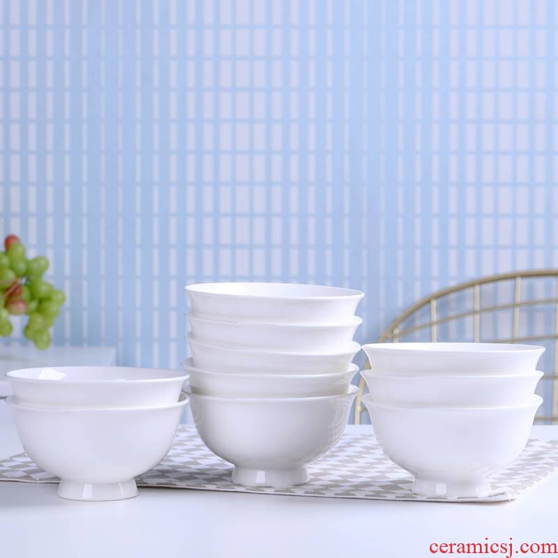 Household utensils for 10 a to pure single ceramic bowl noodles bowl of rice bowls bird 's nest ten little soup bowl