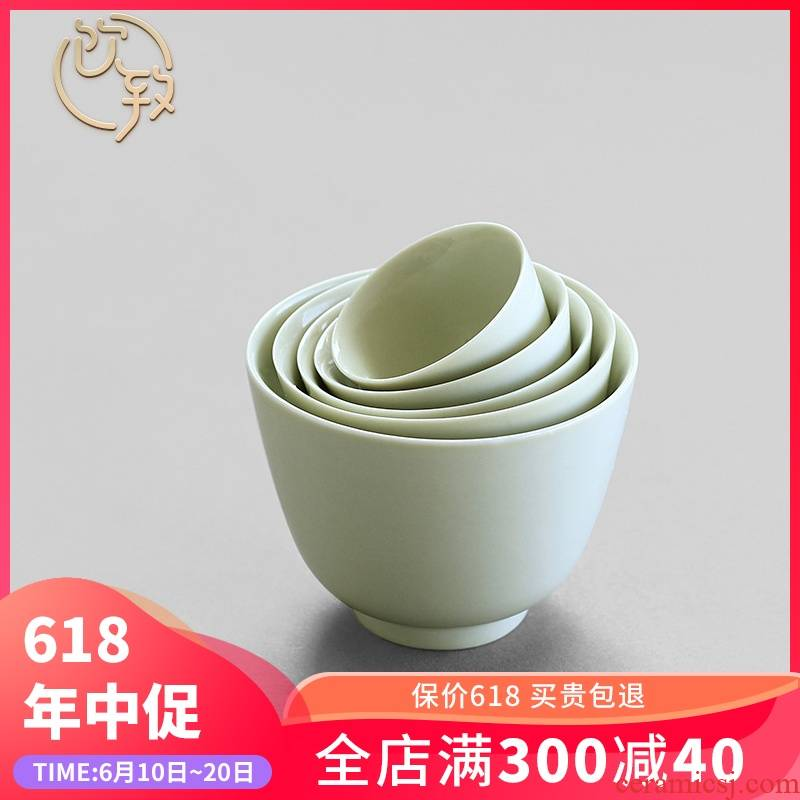 Ultimately responds to the secret glaze jingdezhen little kung fu tea tea cup sample tea cup large personal master CPU manually set of CPU